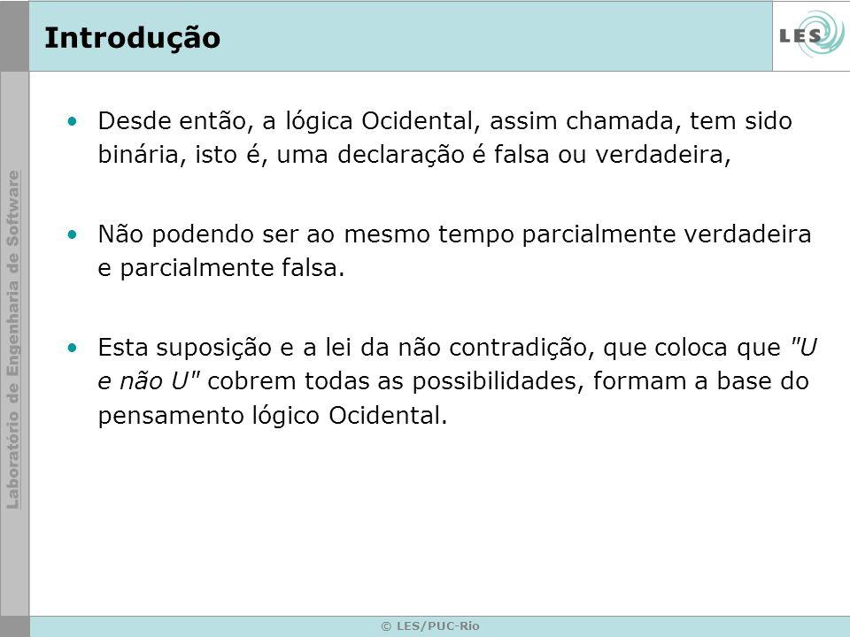© LES/PUC-Rio Lógica Fuzzy A Lógica Difusa (Fuzzy Logic) viola estas suposições.