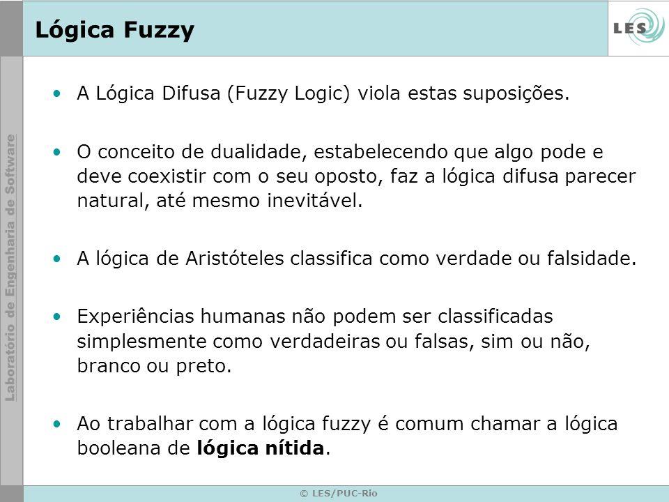 © LES/PUC-Rio Lógica Fuzzy Exemplos: –Aquele homem é alto ou baixo.
