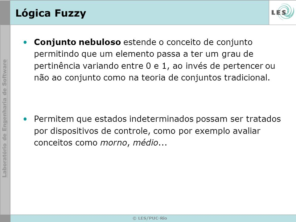 © LES/PUC-Rio Fuzzy Forward-Chaining Implementation private void processAssertionRules(BitSet factBase) { trace (\nProcessing unconditional fuzzy rules ); Enumeration enum = uncRuleList.elements.elements(); while (enum.hasMoreElements()) { FuzzyRule rule = (FuzzyRule) (enum.nextElement()); rule.fire(alphacut, factBase); }