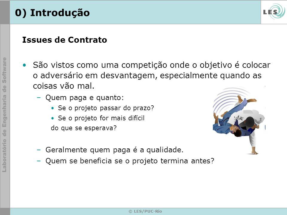 © LES/PUC-Rio 0) Introdução Issues de Contrato São vistos como uma competição onde o objetivo é colocar o adversário em desvantagem, especialmente qua