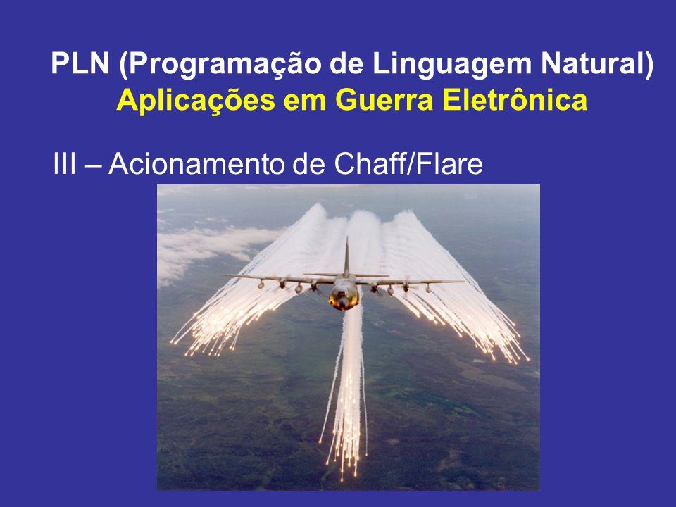 PLN (Programação de Linguagem Natural) Aplicações em Guerra Eletrônica III – Acionamento de Chaff/Flare