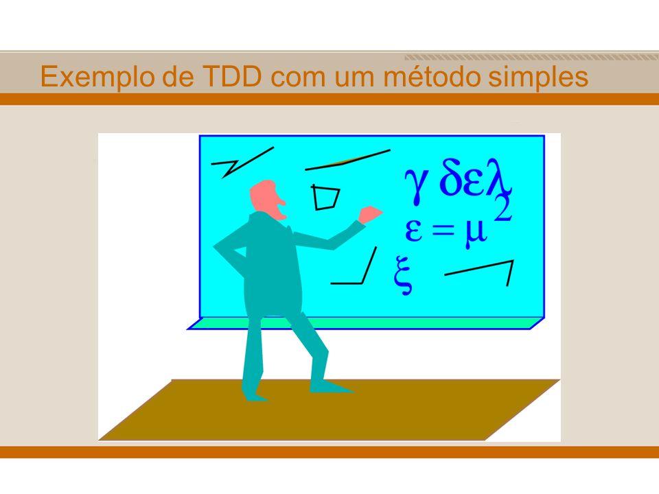 Exemplo de TDD com um método simples