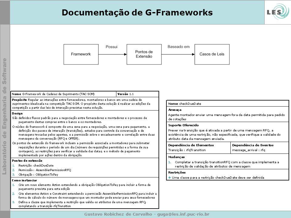 Gustavo Robichez de Carvalho - guga@les.inf.puc-rio.br Documentação de G-Frameworks