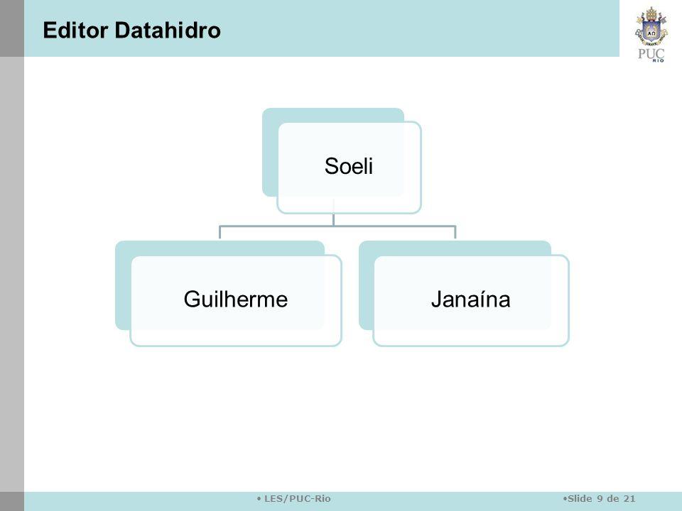 Slide 9 de 21 LES/PUC-Rio SoeliGuilhermeJanaína Editor Datahidro