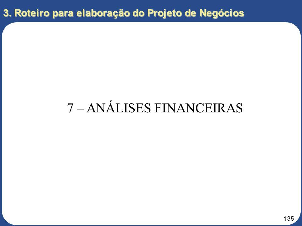 134 3. Roteiro para elaboração do Projeto de Negócios 6 – PLANOS DE AÇÃO 6.8 – Sistema de Informações Gerenciais Definição dos sistemas de informação