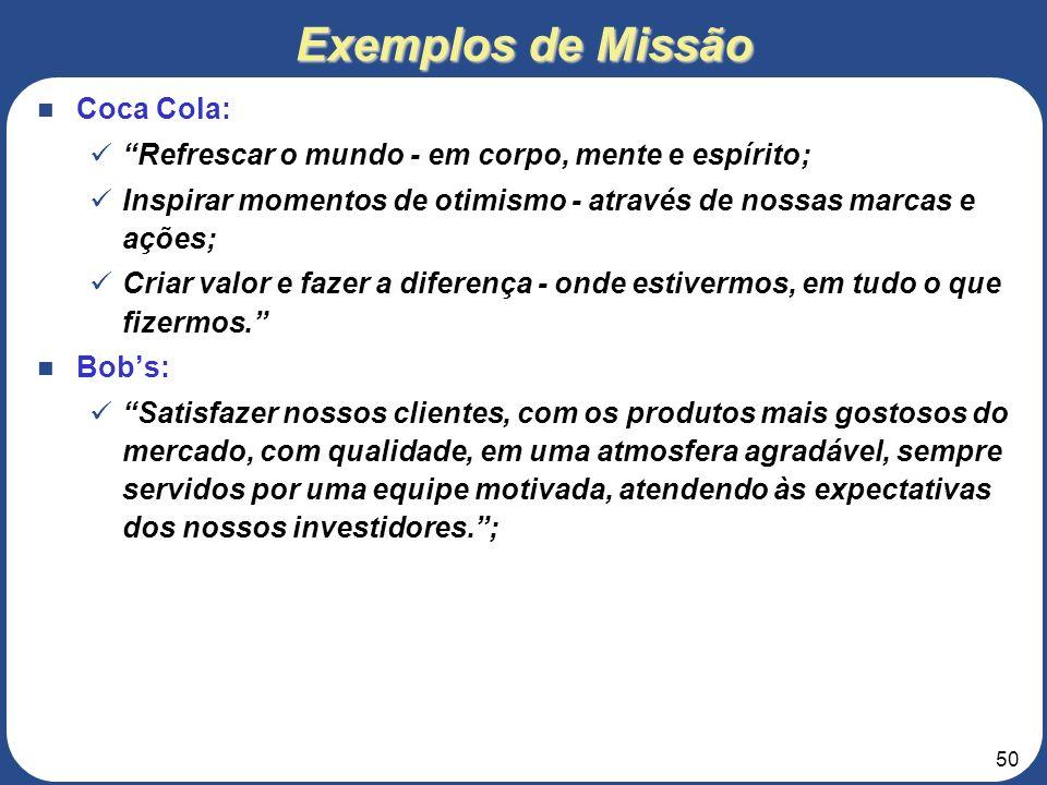 49 Exemplos de Missão Lojas Americanas: Ajudar as pessoas a melhorar continuamente a sua qualidade de vida, provendo-lhes acesso a produtos de qualida