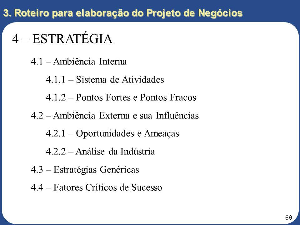 68 Variáveis Cenário mais provável 1º ano 2º ano 3º ano Político Social Governo mantendo principais políticas da gestão anterior; Novas atividades na