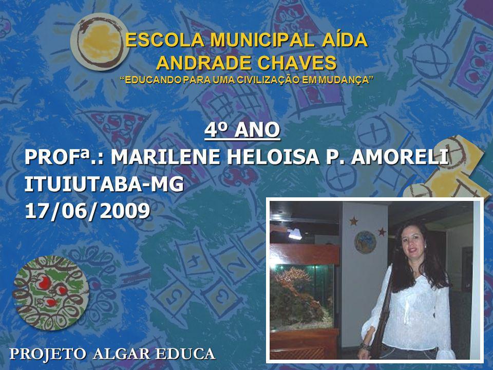 ESCOLA MUNICIPAL AÍDA ANDRADE CHAVES EDUCANDO PARA UMA CIVILIZAÇÃO EM MUDANÇA 4º ANO PROFª.: MARILENE HELOISA P. AMORELI ITUIUTABA-MG17/06/2009 PROJET