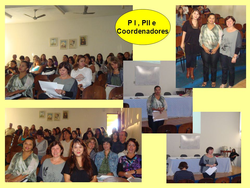 P I, PII e Coordenadores
