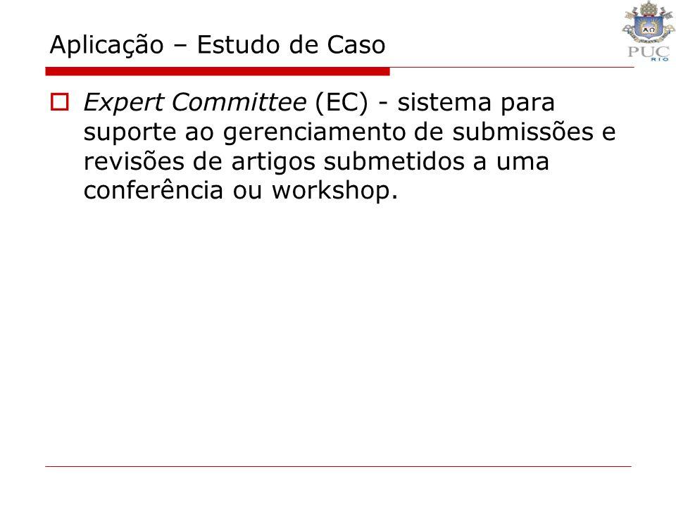 Aplicação – Estudo de Caso Expert Committee (EC) - sistema para suporte ao gerenciamento de submissões e revisões de artigos submetidos a uma conferên