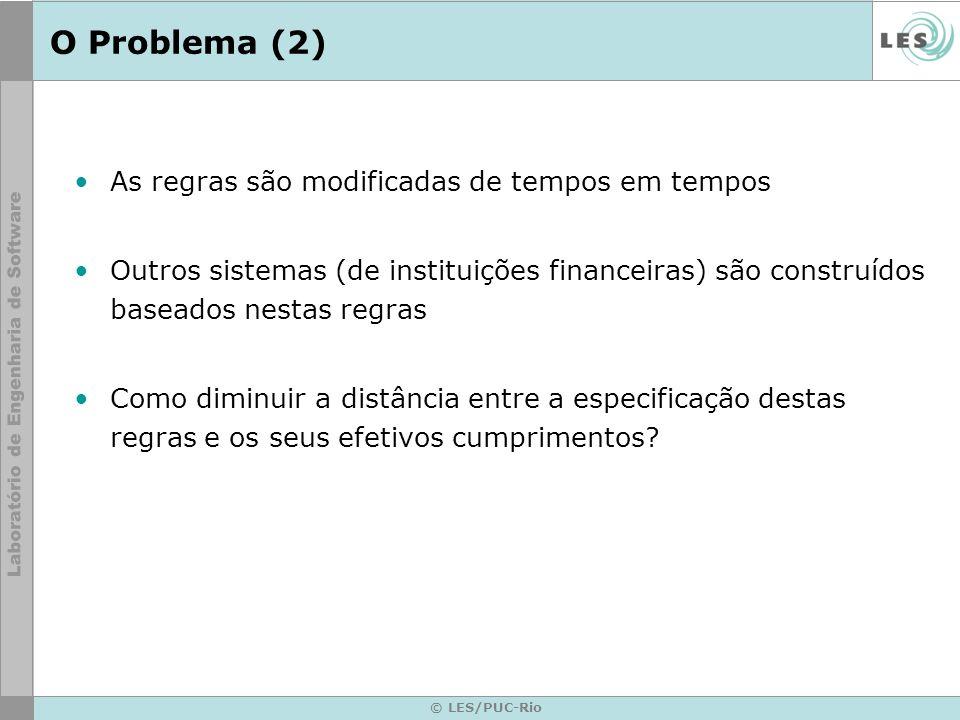 © LES/PUC-Rio Hipótese Utilizar a abordagem de LEIS para especificar, monitorar e executar as regras do sistema SELIC