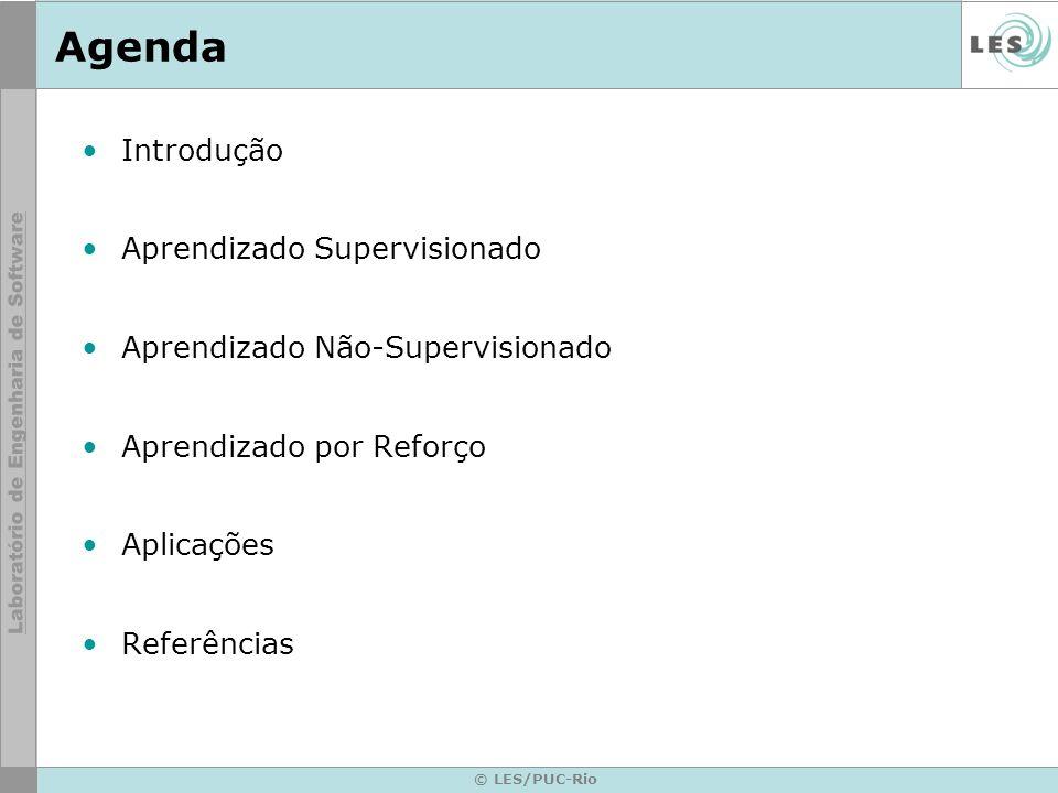 Aprendizado Não-Supervisionado © LES/PUC-Rio Entrada Vizinhança Atualização SOM (Self-Orgazining Map)