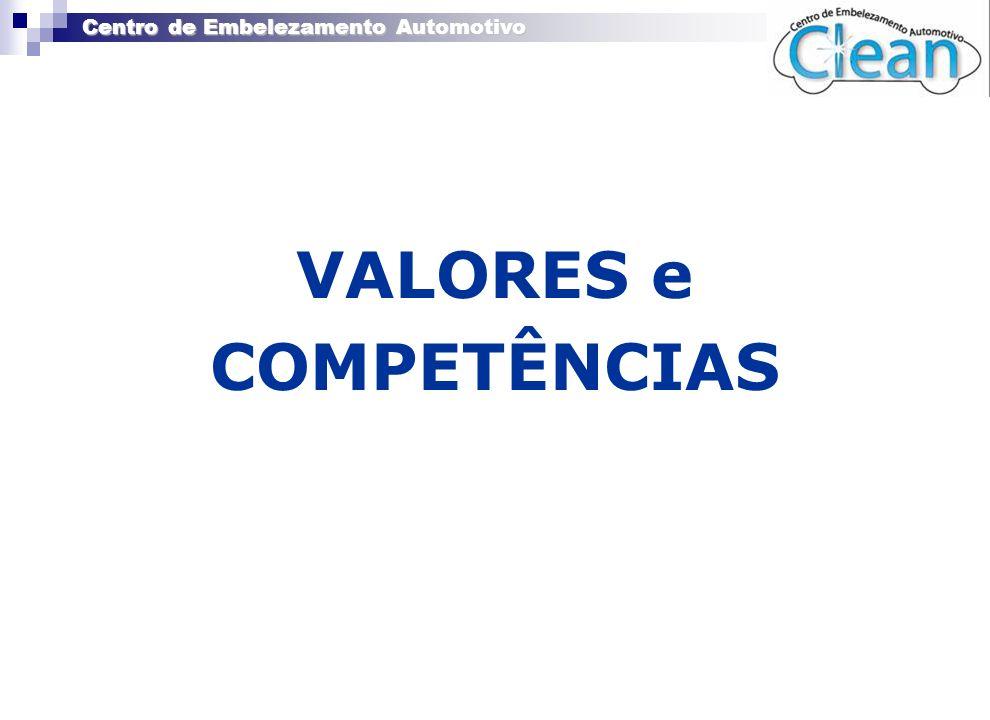 Centro de Embelezamento Automotivo » EMPRESA « VALORES e COMPETÊNCIAS