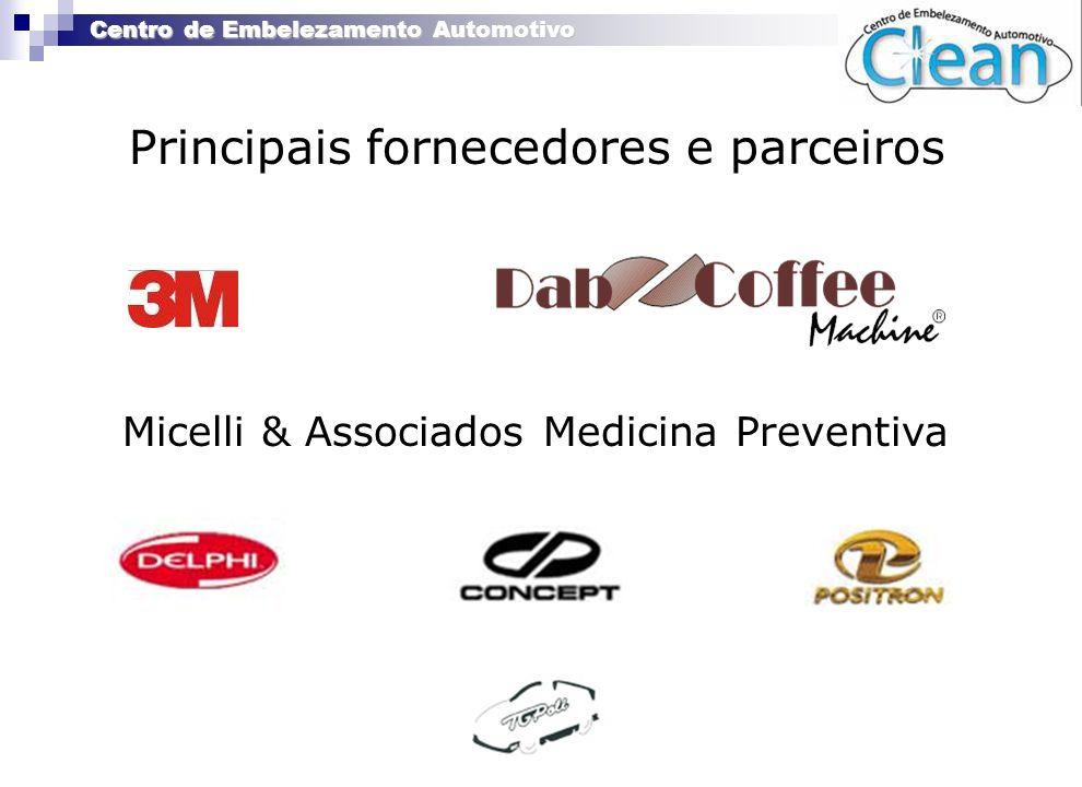 Centro de Embelezamento Automotivo Principais fornecedores e parceiros Micelli & Associados Medicina Preventiva