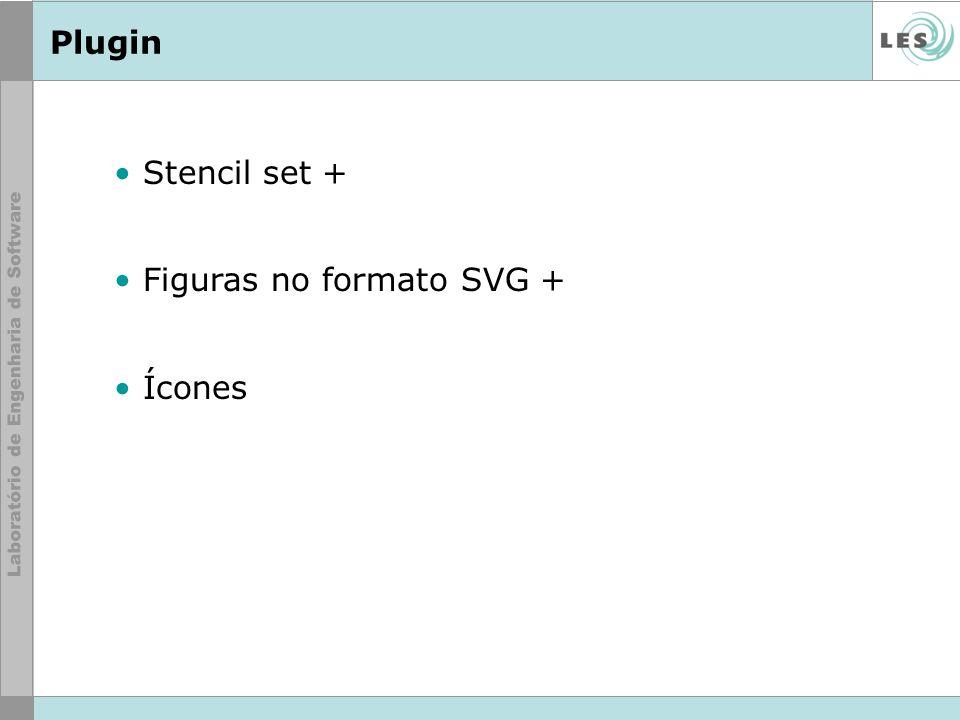 Plugin Stencil set + Figuras no formato SVG + Ícones