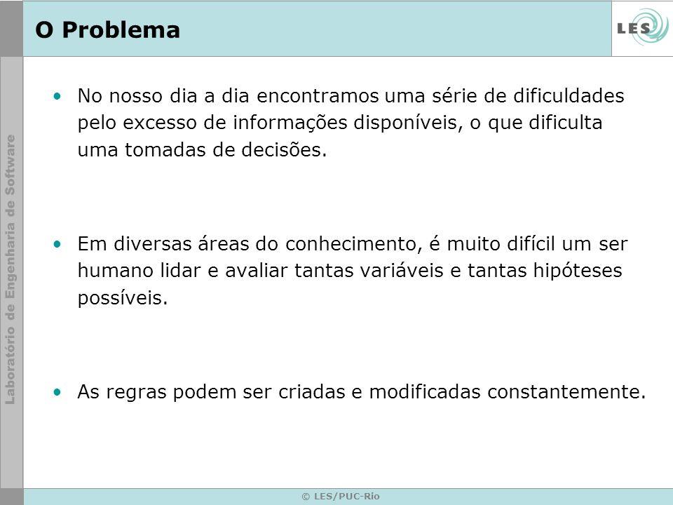 © LES/PUC-Rio O Problema No nosso dia a dia encontramos uma série de dificuldades pelo excesso de informações disponíveis, o que dificulta uma tomadas