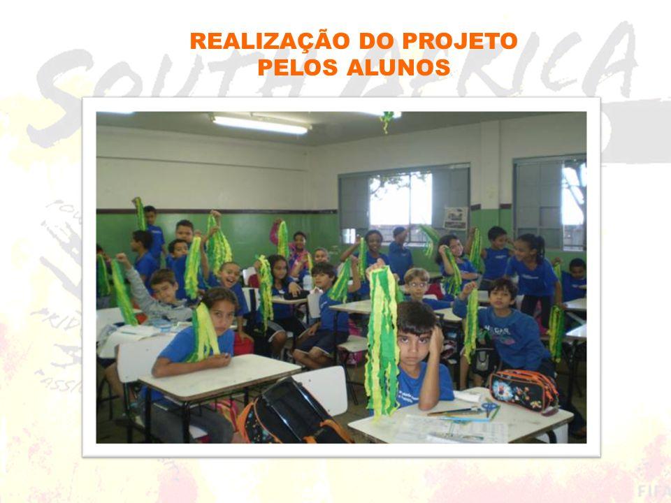 REALIZAÇÃO DO PROJETO PELOS ALUNOS