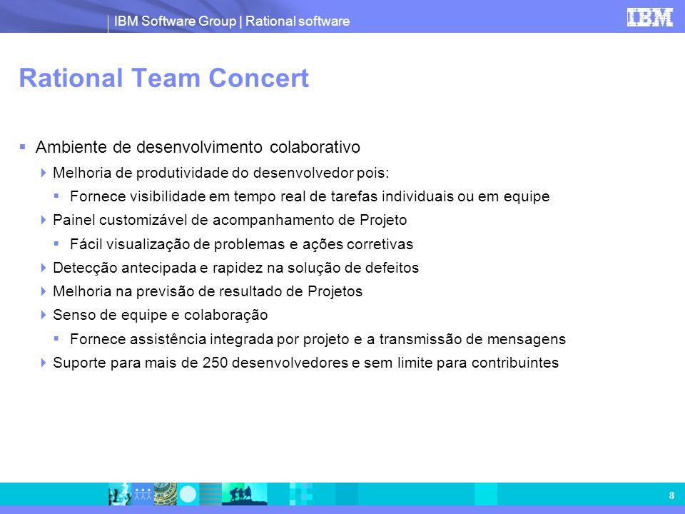 IBM Software Group | Rational software 8 Rational Team Concert Ambiente de desenvolvimento colaborativo Melhoria de produtividade do desenvolvedor poi