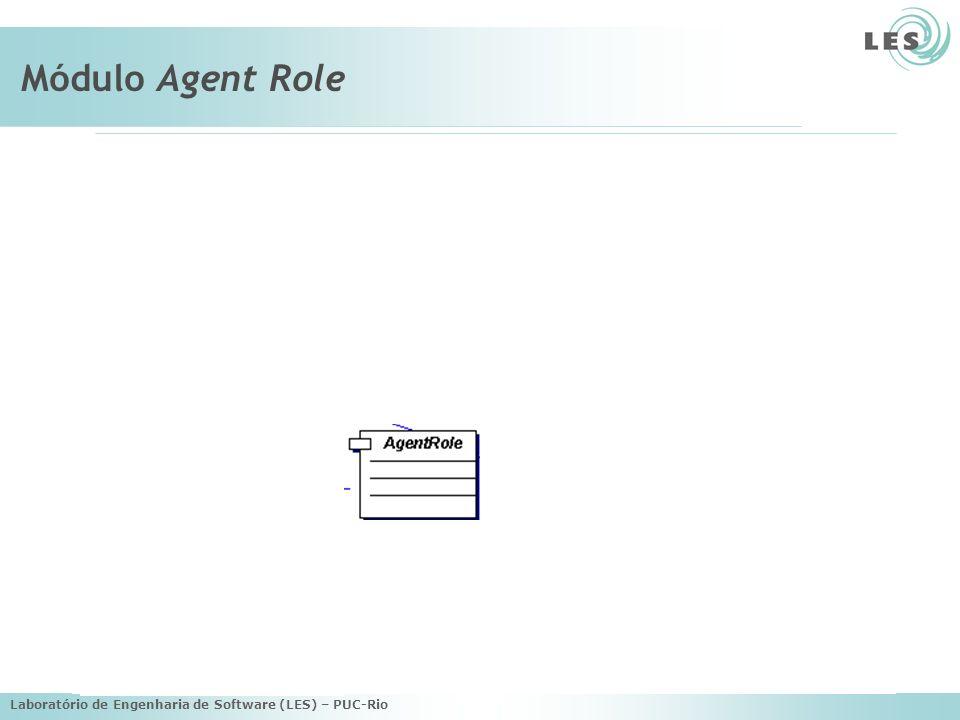 Laboratório de Engenharia de Software (LES) – PUC-Rio Módulo Agent Role