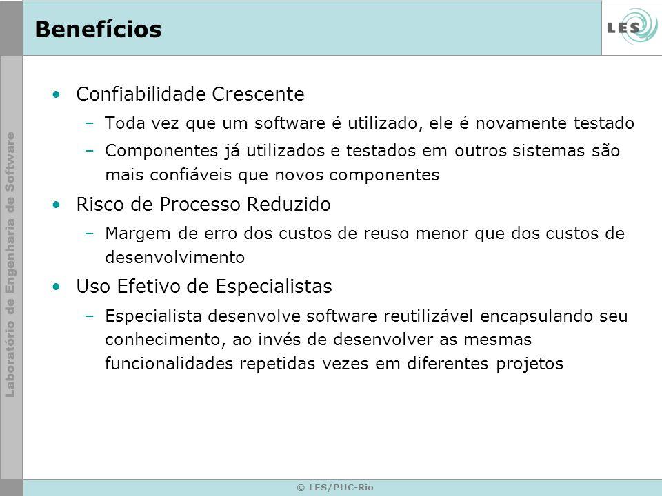 © LES/PUC-Rio Observer Conseqüências –Acoplamento abstrato entre Sujeito e Observador –Suporte a comunicação em broadcast (mensagem que todos os observadores enxergam).