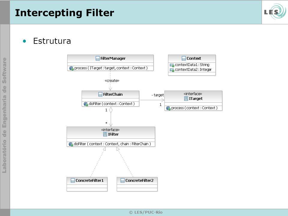 © LES/PUC-Rio Intercepting Filter Estrutura