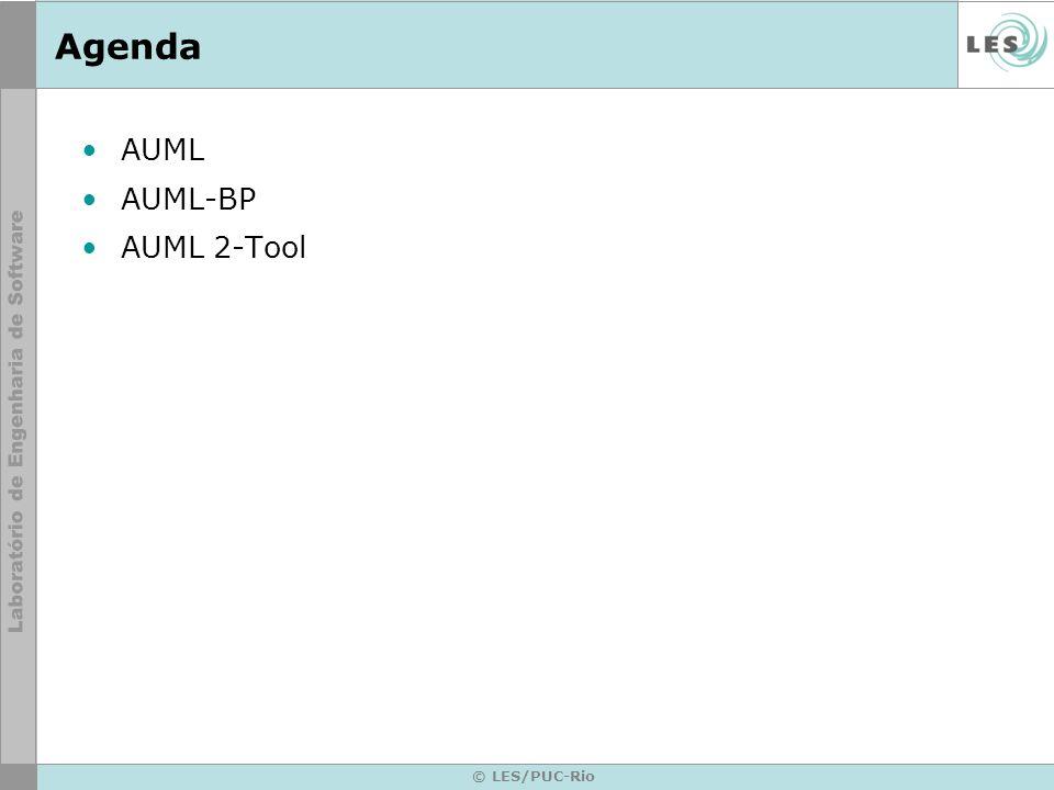 © LES/PUC-Rio Agenda AUML AUML-BP AUML 2-Tool