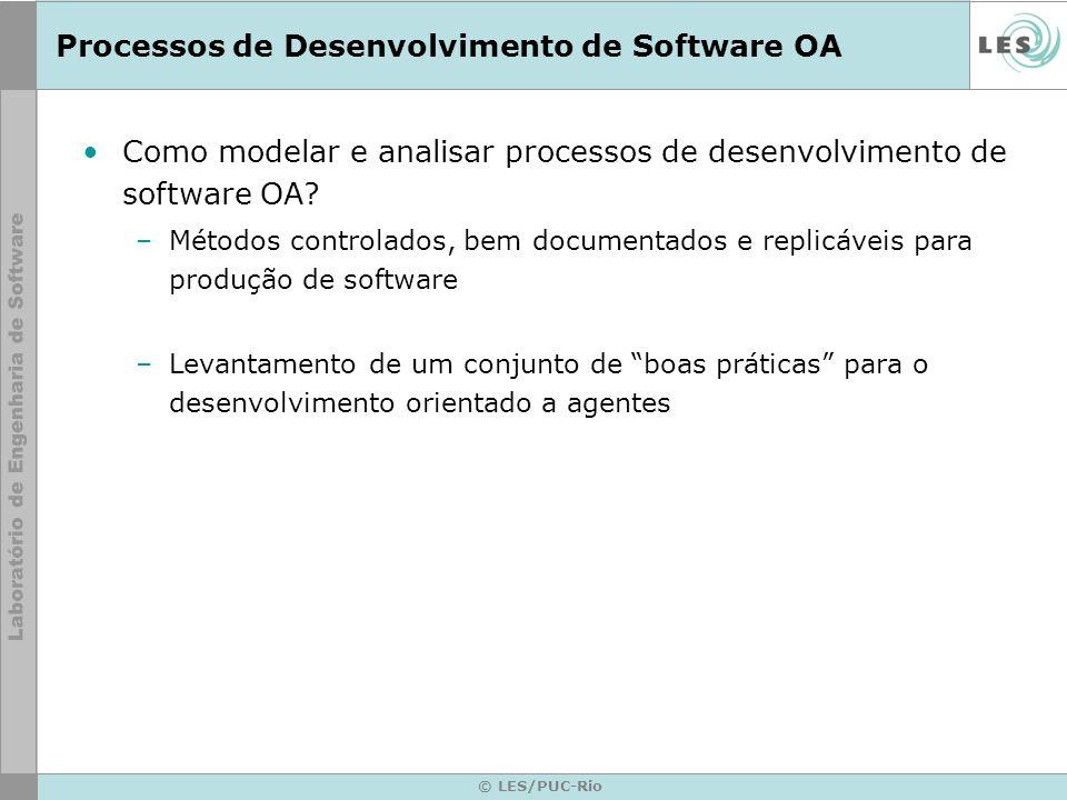 © LES/PUC-Rio Processos de Desenvolvimento de Software OA Como modelar e analisar processos de desenvolvimento de software OA? –Métodos controlados, b