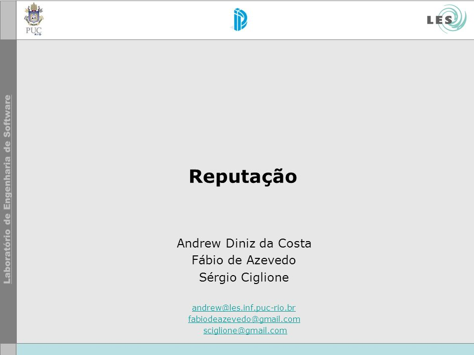 © LES/PUC-Rio Agenda Introdução Competição Agente finalista Desempenho na competição Prêmios Novos Trabalhos Considerações finais