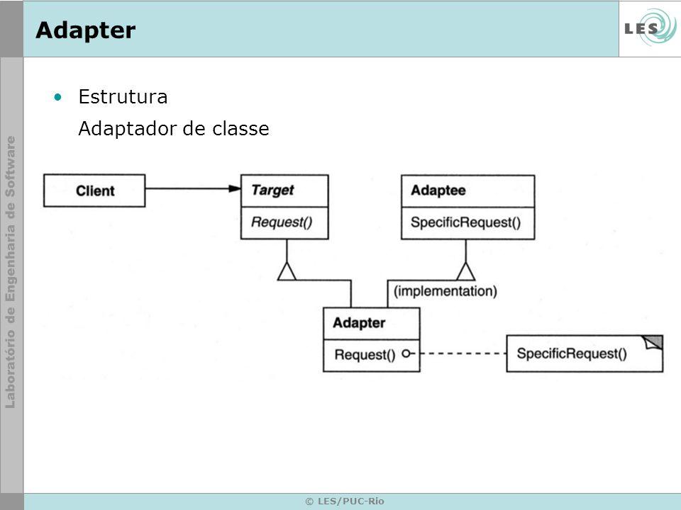 Adapter Estrutura Adaptador de classe