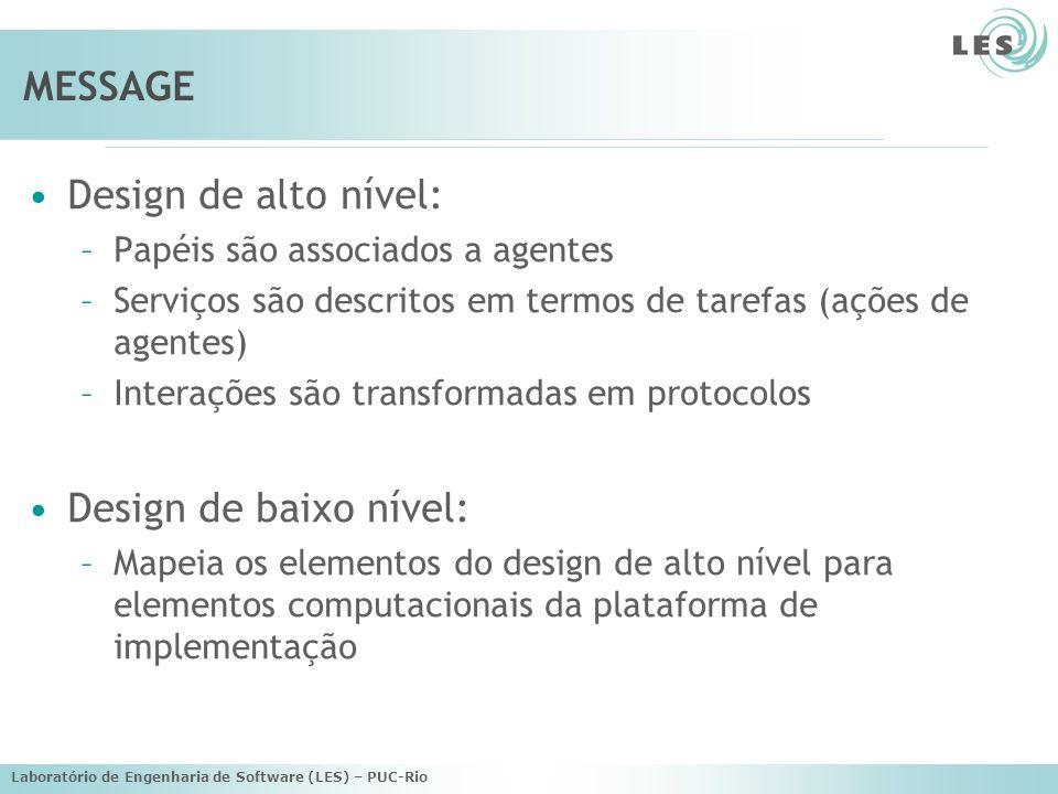 Laboratório de Engenharia de Software (LES) – PUC-Rio Visão de Task/Goal Descreve como um serviço é realizado por uma seqüência de tarefas o serviço