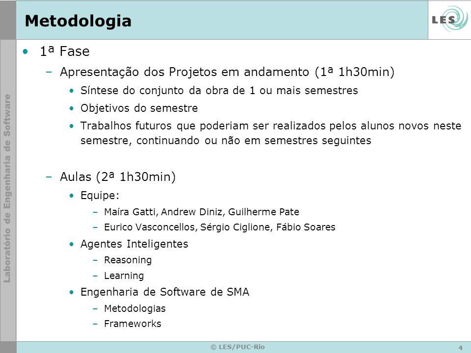 5 © LES/PUC-Rio Metodologia – 1ª Fase