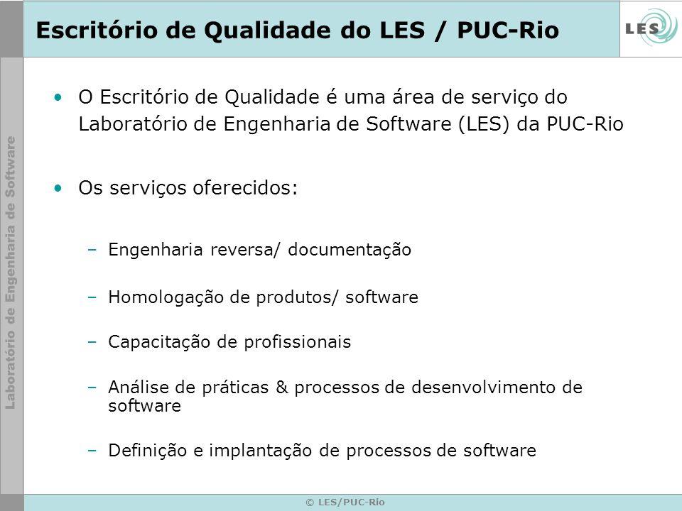 © LES/PUC-Rio Escritório de Qualidade do LES / PUC-Rio O Escritório de Qualidade é uma área de serviço do Laboratório de Engenharia de Software (LES)