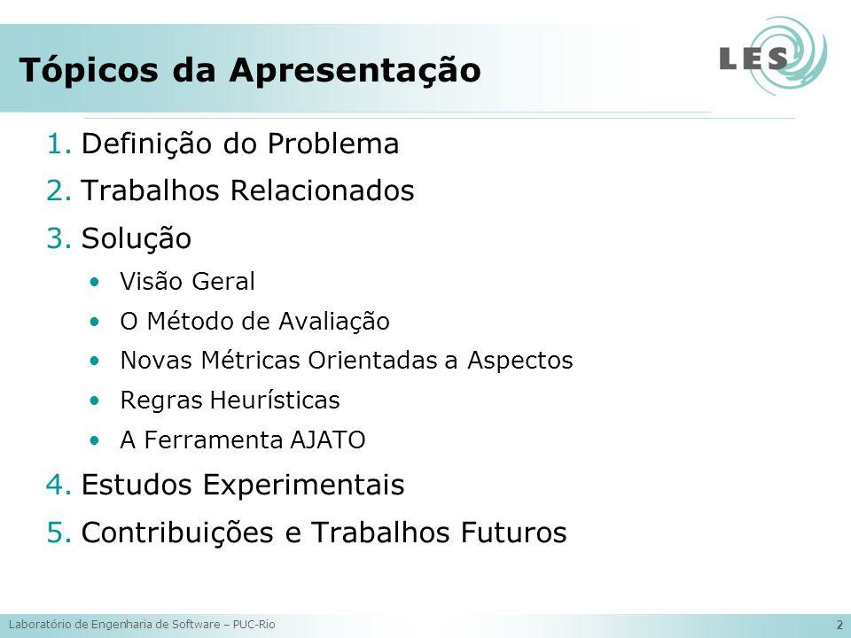 Laboratório de Engenharia de Software – PUC-Rio 13 O Método de Avaliação