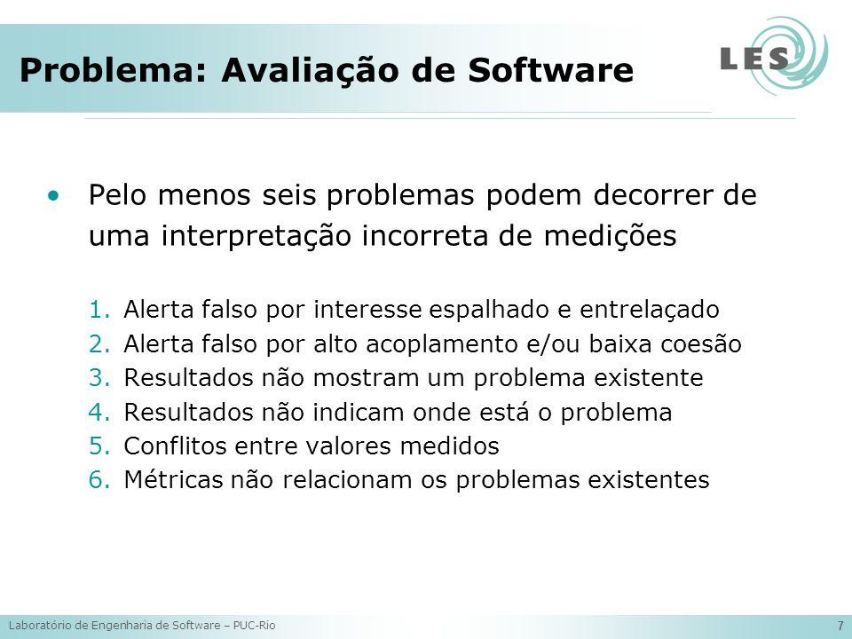 Laboratório de Engenharia de Software – PUC-Rio 8 Trabalhos Relacionados: Métricas Várias métricas orientadas a aspectos tem sido propostas nas literatura: –SantAnna et al.