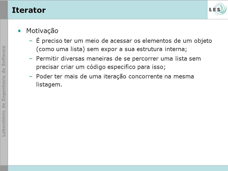 Motivação Iterator
