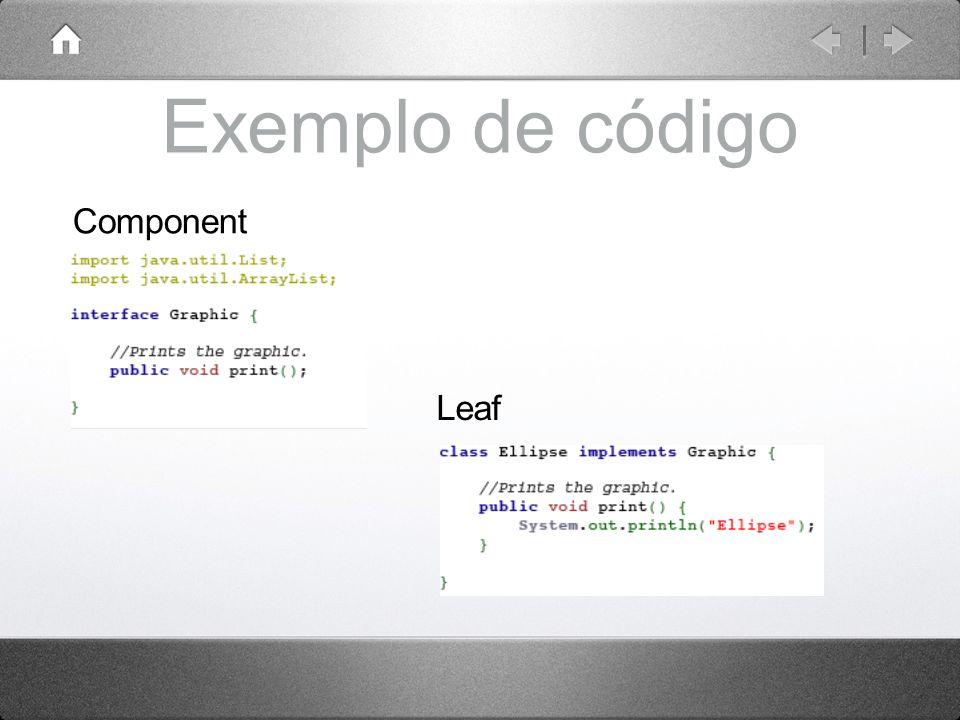 Exemplo de código Component Leaf