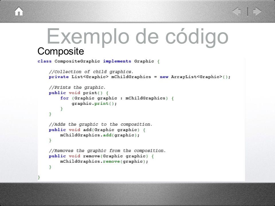 Exemplo de código Composite