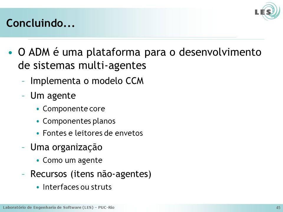 Laboratório de Engenharia de Software (LES) – PUC-Rio 45 Concluindo...