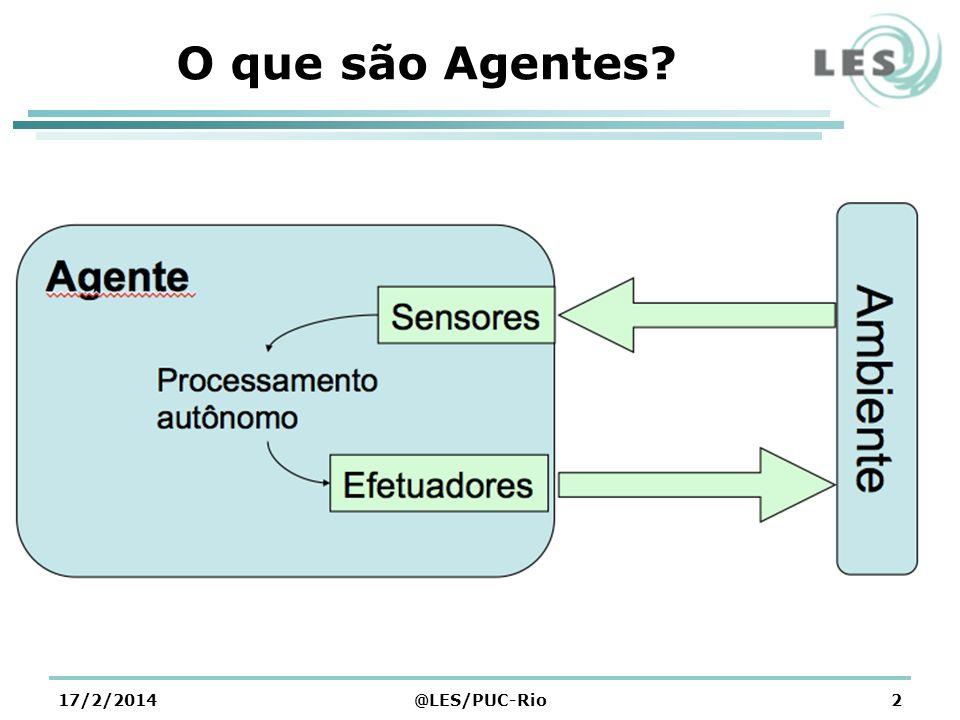 O que são Agentes? 17/2/2014@LES/PUC-Rio2