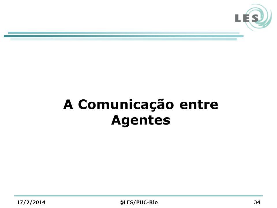 A Comunicação entre Agentes 17/2/2014@LES/PUC-Rio34