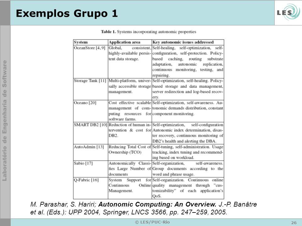 26 © LES/PUC-Rio Exemplos Grupo 1 M. Parashar, S.