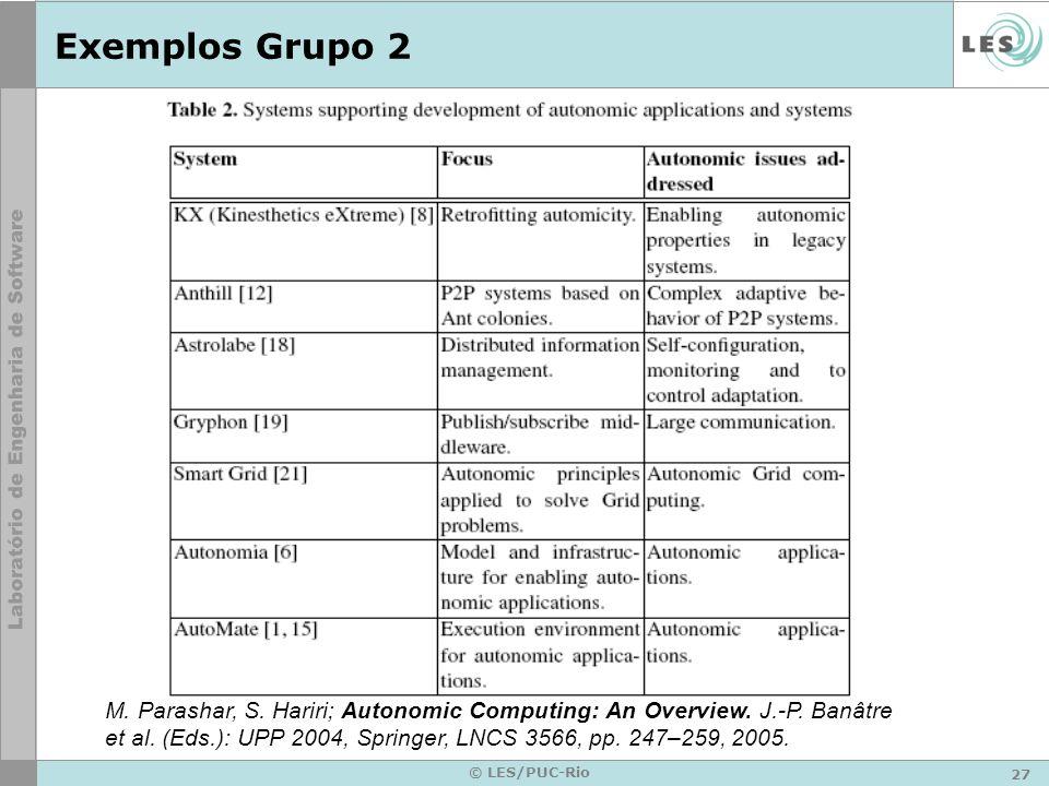 27 © LES/PUC-Rio Exemplos Grupo 2 M. Parashar, S.