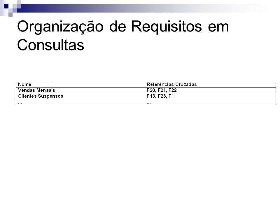 Organização de Requisitos em Consultas