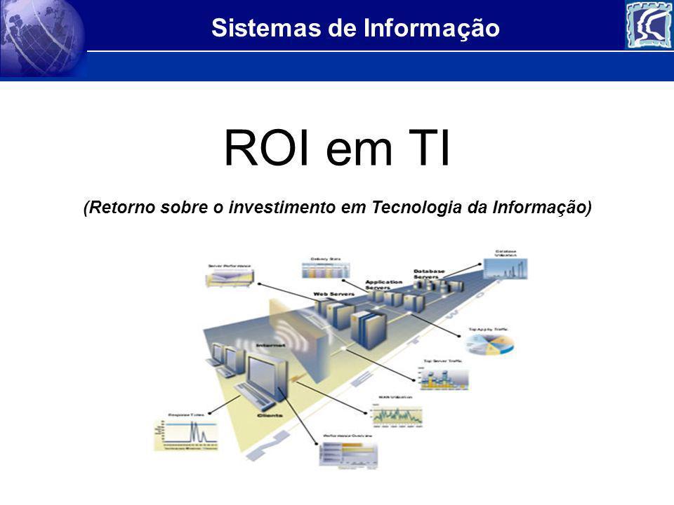 Sistemas de Informação Criado em 1977 pelo Gartner, o conceito de ROI (return on investment ou retorno do investimento) se disseminou e alcançou popularidade no mercado de TI na década de 90, quando os projetos de implementação de ERP, os pacotes integrados de gestão, entraram na moda.