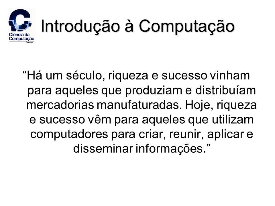 Hardware: Os Componentes Básicos de um Computador Quatro componentes principais: –Dispositivos de entrada –Processamento –Dispositivos de saídaDispositivos de saída –ArmazenamentoArmazenamento