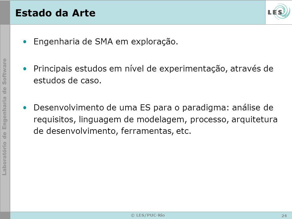 24 © LES/PUC-Rio Estado da Arte Engenharia de SMA em exploração. Principais estudos em nível de experimentação, através de estudos de caso. Desenvolvi
