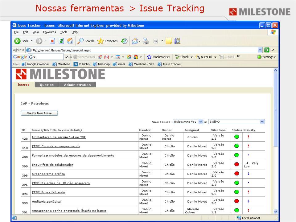 Nossas ferramentas > Issue Tracking