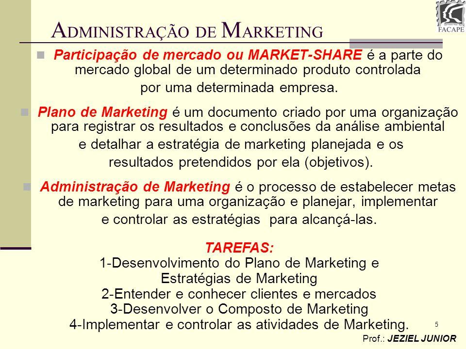 5 Participação de mercado ou MARKET-SHARE é a parte do mercado global de um determinado produto controlada por uma determinada empresa. Plano de Marke