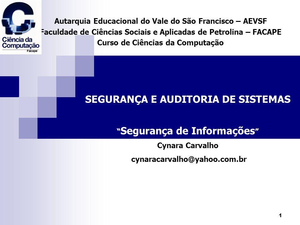 12 Segurança de Informações Relacionamento da Política de Segurança de Informações com a estratégia da organização.