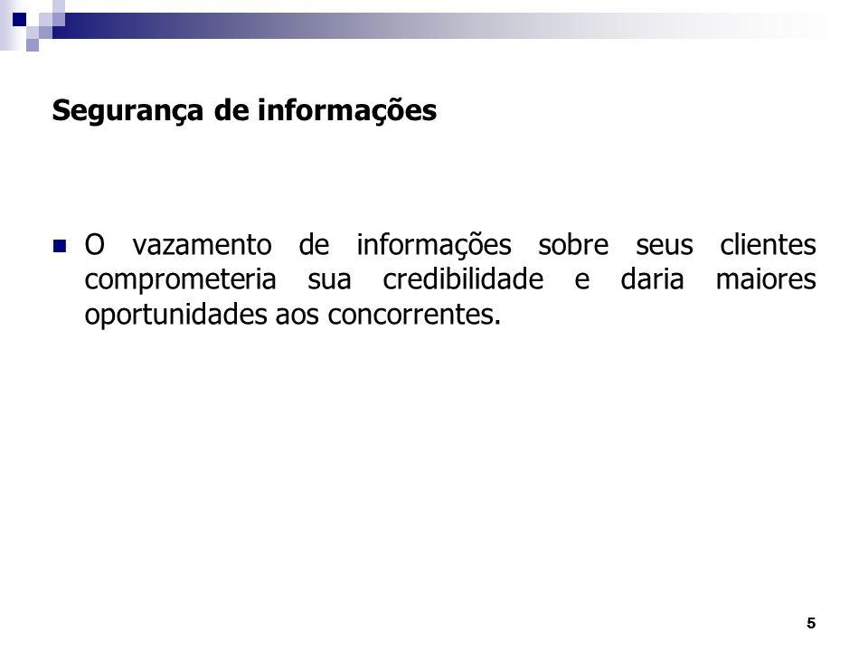 16 Segurança de Informações Identificando os recursos O que precisa ser protegido.